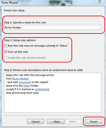 Office 365 (Outlook 2016 for Windows) - Use rules to manage