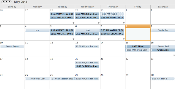 Example of overlay of Calendars image