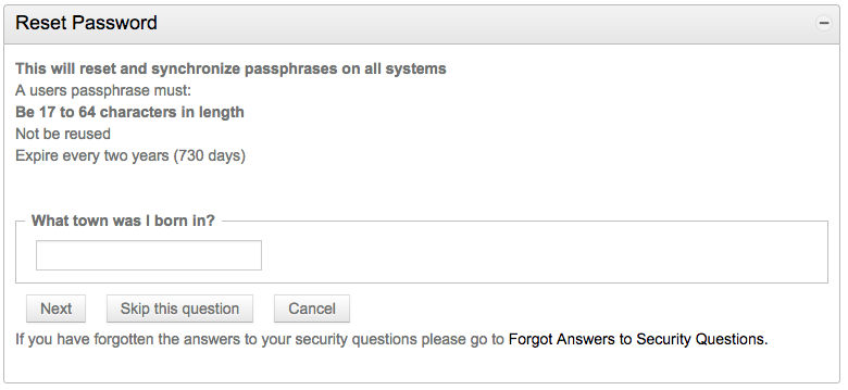 passphrase security questions