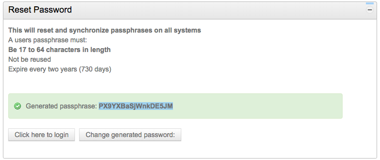 system generated password