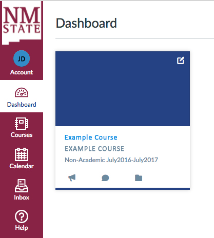 myNMSU Canvas dashboard