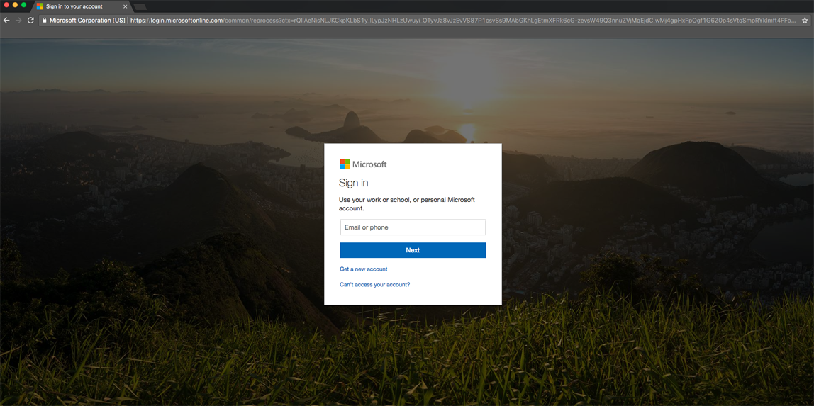 second Office 365 login screen for myNMSU email