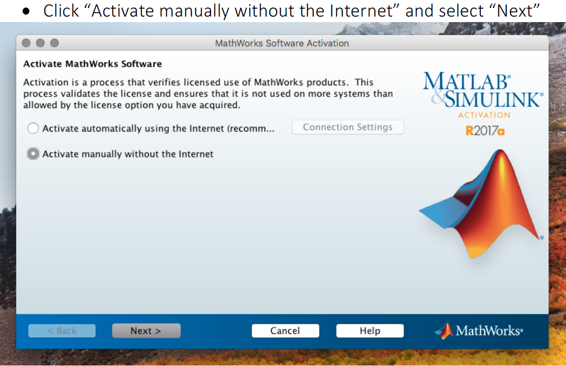 Activate Math Works Software image