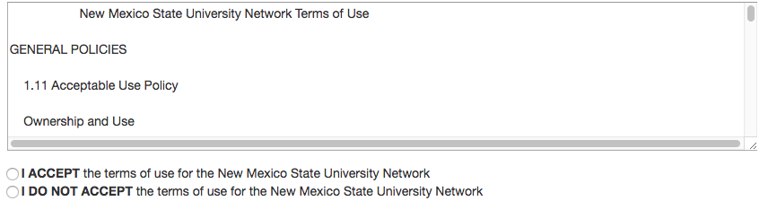 NMSU network registration box image
