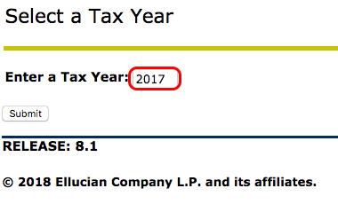 Entering tax year image