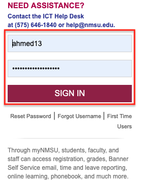 passphrase sign in to your nmsu account