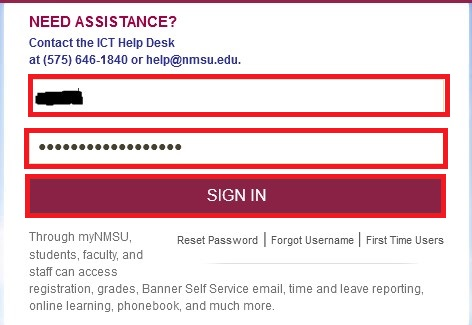 passphrase sign in using your nmsu passhrase and email