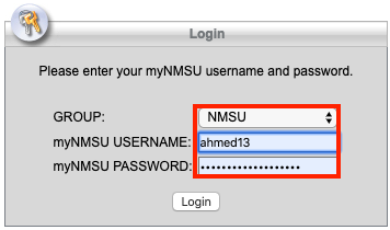 passphrase provide your nmsu credentials